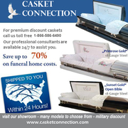 Caskets for sale at Casket Connection